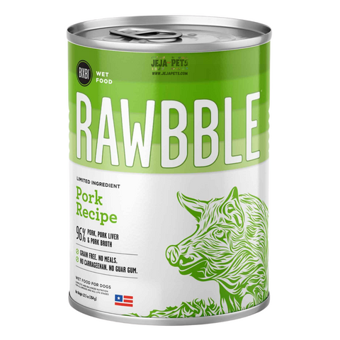 BIXBI Rawbble Pork Canned Wet Dog Food - 354g