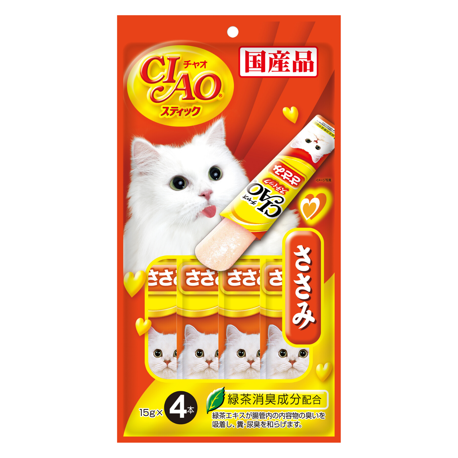 Ciao Stick Chicken Fillet in Jelly - 15g x 4