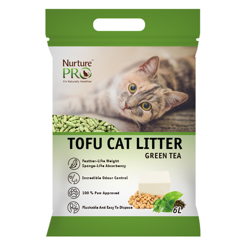 Nurture Pro Tofu Cat Litter (Green Tea) - 6L