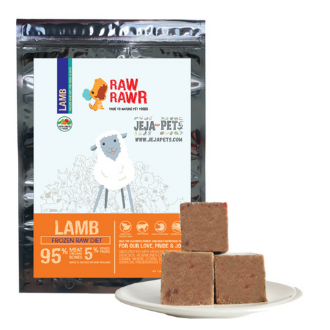Raw Rawr Frozen Lamb Balanced Diet Dog Food - 1.2 kg
