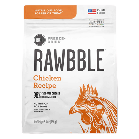 BIXBI Rawbble Chicken Freeze Dried Dog Food - 127g / 340g / 737g
