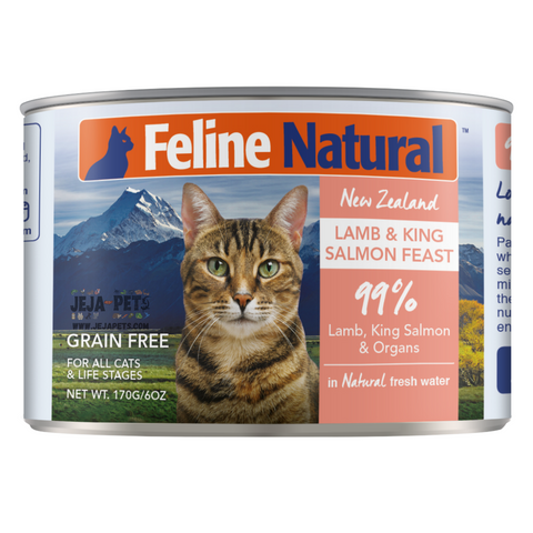 Feline Natural Lamb and King Salmon Feast Can - 85g / 170g