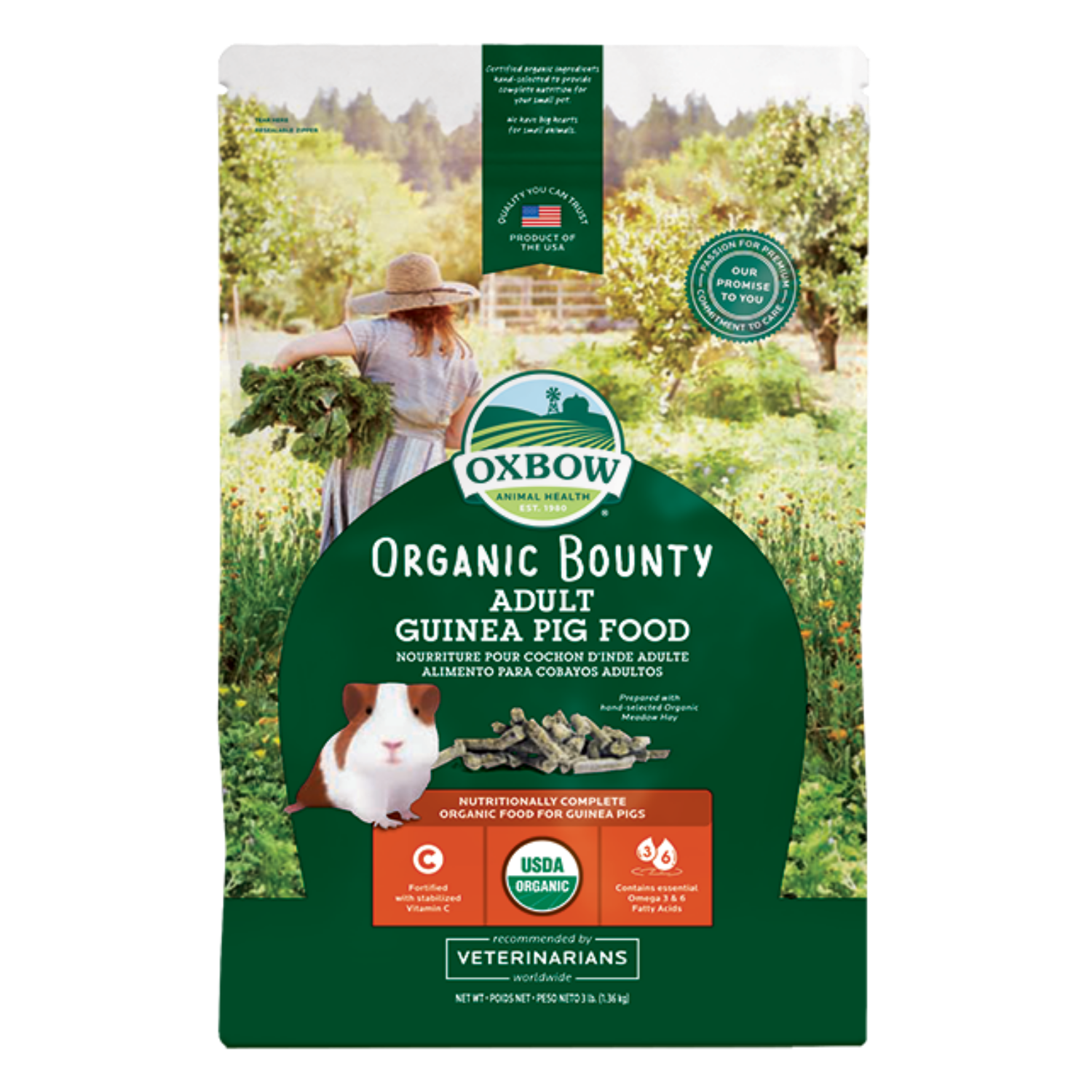 Oxbow Organic Bounty Adult Guinea Pig - 1.36kg