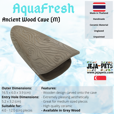 Aquafresh Ancient Wood Cave (M) - 16.5cm