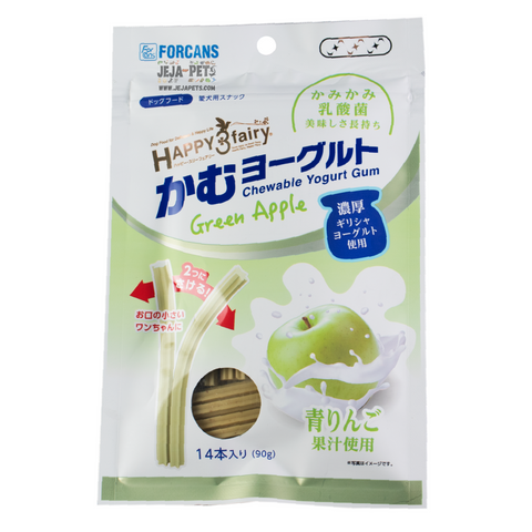Forcans Happy 3 Fairy Chewable Yogurt Gum Green Apple - 90g