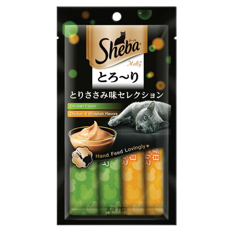 Sheba Melty Chicken & Chicken and Whitefish Cat Treat - 48g