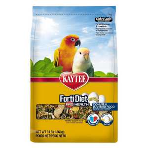 Kaytee Forti-Diet Pro Health Egg-Cite! Conure & Lovebird Food - 1.36kg