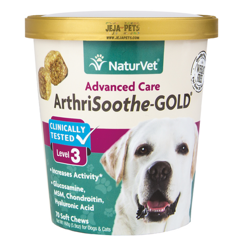 NaturVet Arthrisooth-GOLD Level 3 Soft Chews - 70 ct (30 day supply)