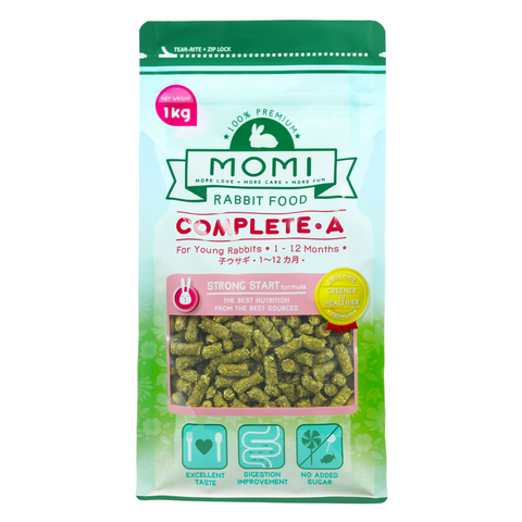 Momi Complete A Pellets for Young Rabbits - 1kg