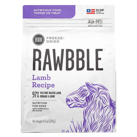 BIXBI Rawbble Lamb Freeze Dried Dog Food - 127g / 340g / 737g