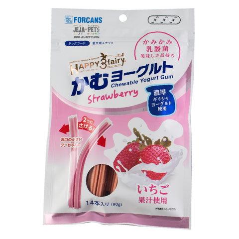 Forcans Happy 3 Fairy Chewable Yogurt Gum Strawberry  - 90g