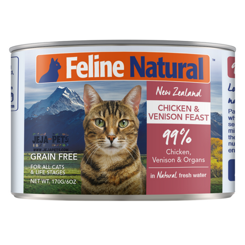 Feline Natural Chicken and Venison Feast Can - 85g / 170g