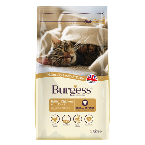 Burgess Adult Cat (Chicken & Duck) - 1.5kg