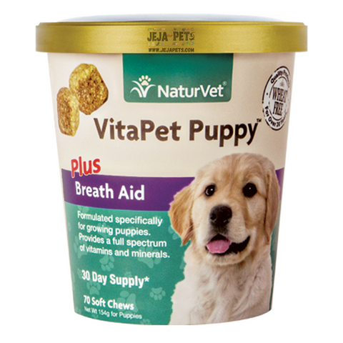 NaturVet VitaPet Puppy™ Plus Breath Aid Soft Chews - 70 ct (30 day supply)