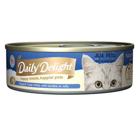 Daily Delight Skipjack Tuna White with Sardine in Jelly - 80g
