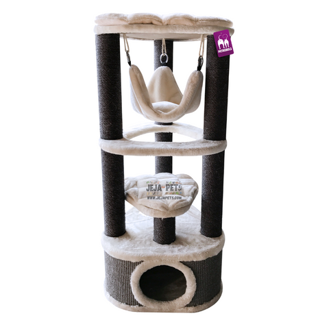 Petrebels Kings & Queens Catharina 120 Cat Tree - Royal Cream