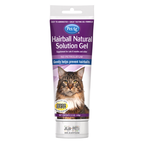 PetAg Hairball Natural Solution Gel Supplements - 103ml