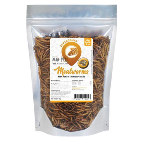 Supergrubs Dried Mealworms - 100g / 400g