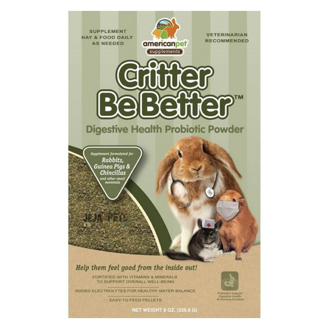 American Pet Diner Critter Be Better Digestive Health Powder - 226g