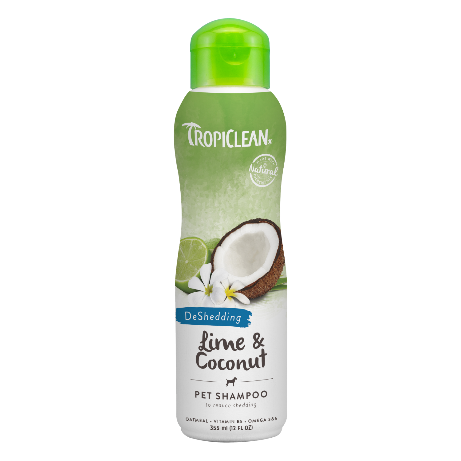 Tropiclean Lime & Coconut Pet Shampoo (DeShedding) - 355ml / 3.79L