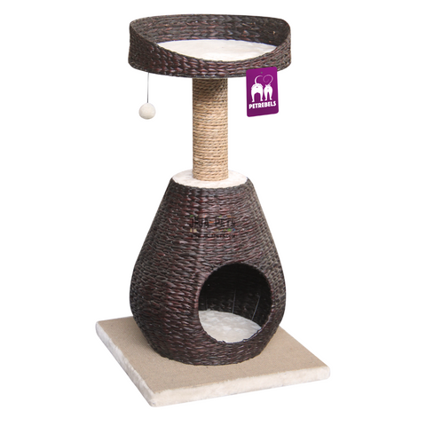 Petrebels Natural Eco Lovers Caribbean Beach 89 Cat Tree - Water Hyacinth