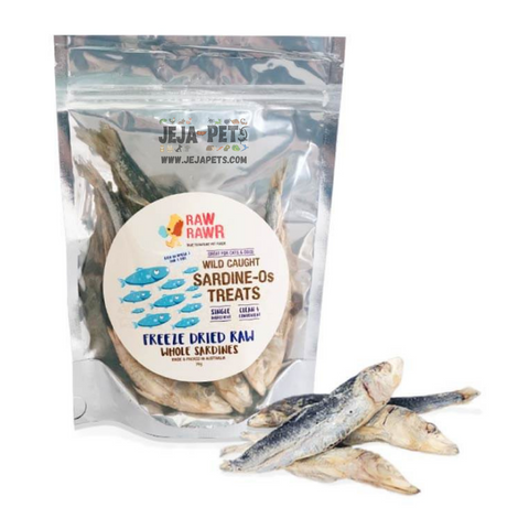 Raw Rawr Wild Caught Whole Sardines Freeze Dried Cat & Dog Treats - 70g
