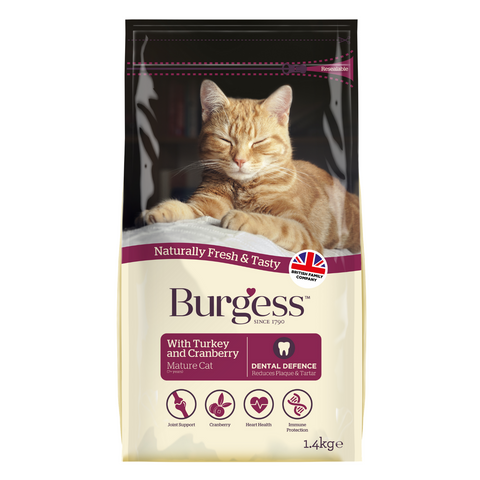 Burgess Mature Cat with (Turkey & Cranberry) - 1.4kg