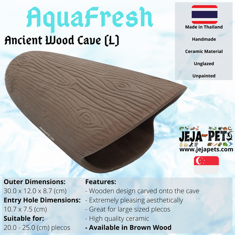 Aquafresh Ancient Wood Cave (L) - 30cm