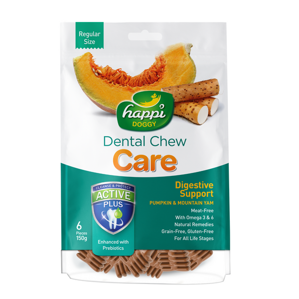Happi Doggy Dental Chew Care (Pumpkin and Mountain Yam) - 150g