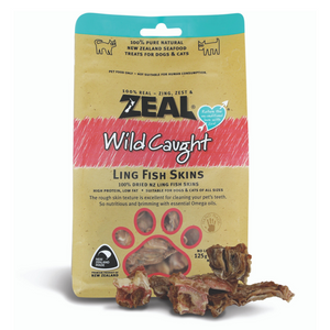 Zeal Wild Caught Naturals Ling Fish Skin  - 125g (BUY 2 GET 1 FREE)
