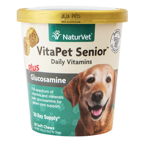 NaturVet VitaPet Senior™ Plus Glucosamine Soft Chews - 60 ct (30 day supply)