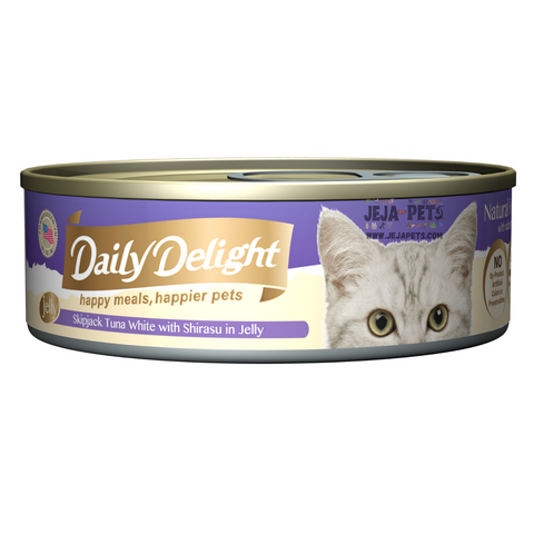 Daily Delight Skipjack Tuna White with Shirasu in Jelly - 80g