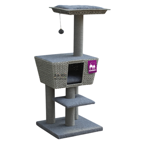 Petrebels Natural Eco Lovers Caribbean Sun 114 Cat Tree - Grey