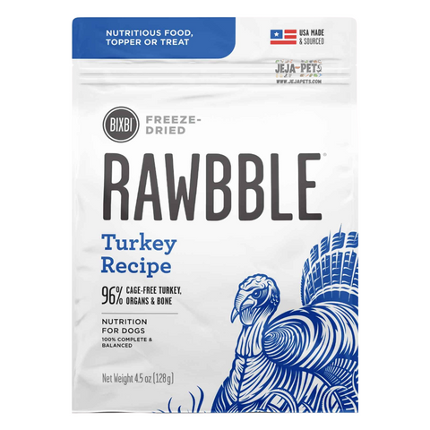 BIXBI Rawbble Turkey Freeze Dried Dog Food - 127g / 340g / 737g