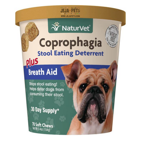 NaturVet Coprophagia Stool Eating Deterrent Plus Breath Aid Soft Chews - 70 ct (30 day supply)