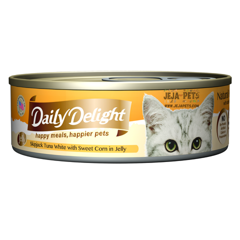 Daily Delight Skipjack Tuna White with Sweet Corn in Jelly - 80g