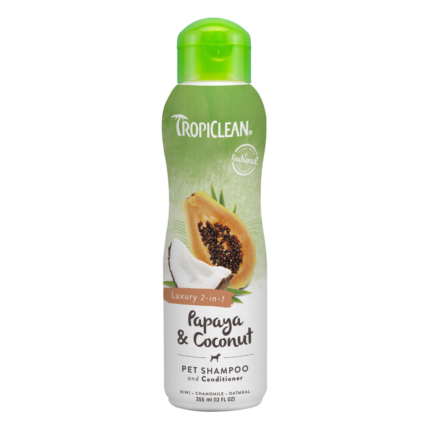 Tropiclean Papaya & Coconut 2-in-1 Shampoo and Conditioner - 355ml / 3.79L