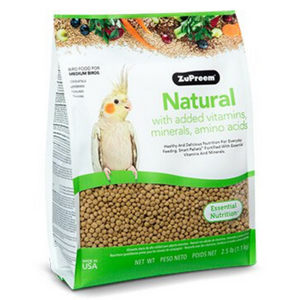 ZuPreem Natural - Medium Birds - 1.13kg / 9.07kg