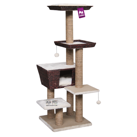 Petrebels Natural Eco Lovers Caribbean Love 141 Cat Tree - Water Hyacinth