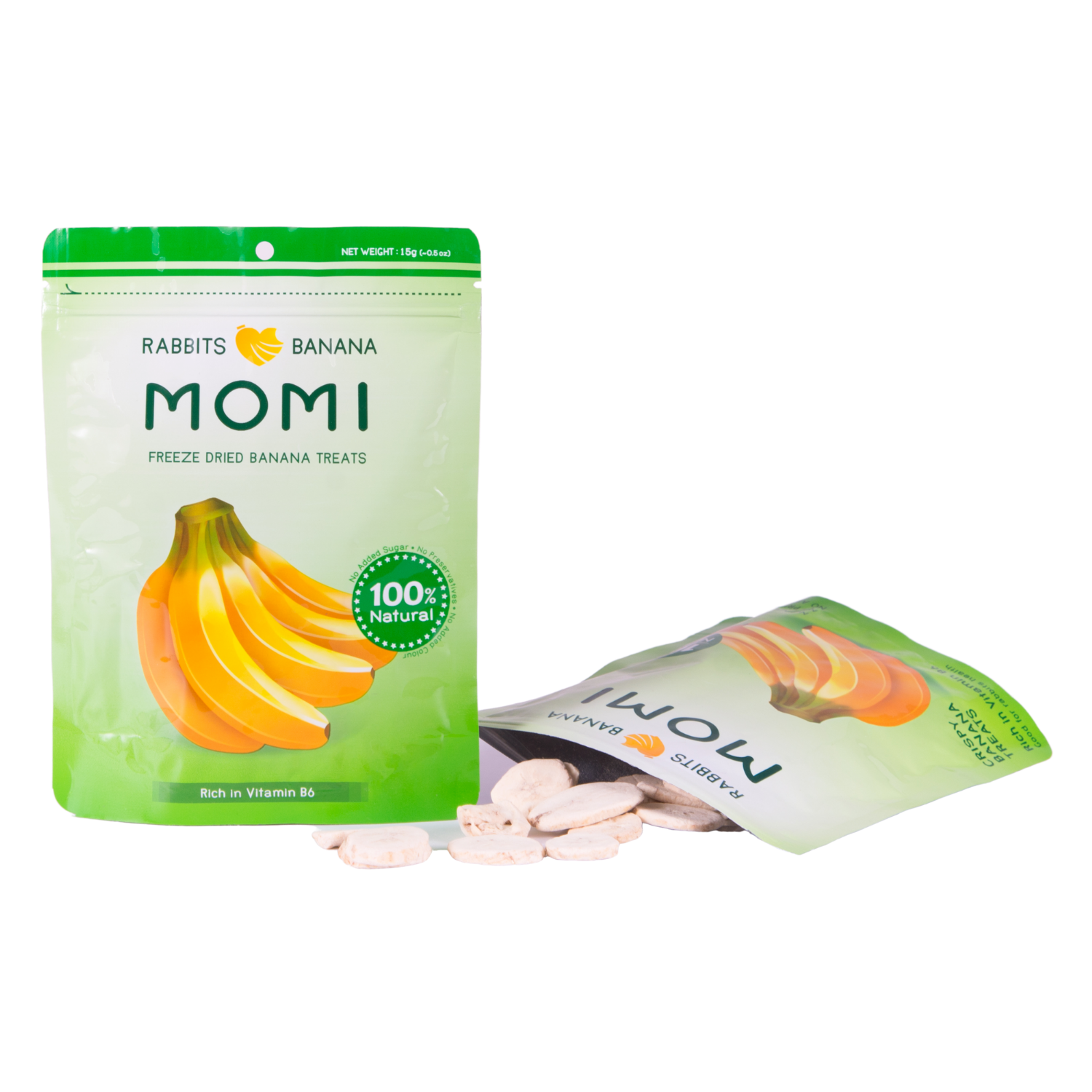 Momi Dried Banana Treats - 15g