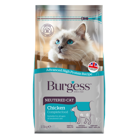 Burgess Neutered Cat (Chicken) - 1.5kg