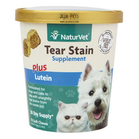 NaturVet Tear Stain Supplement Plus Lutein Soft Chews - 70 ct (30 day supply)