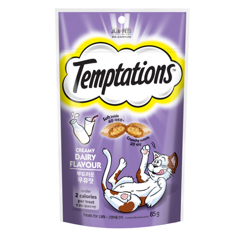 Temptations Creamy Dairy Flavour Cat Treat - 85g