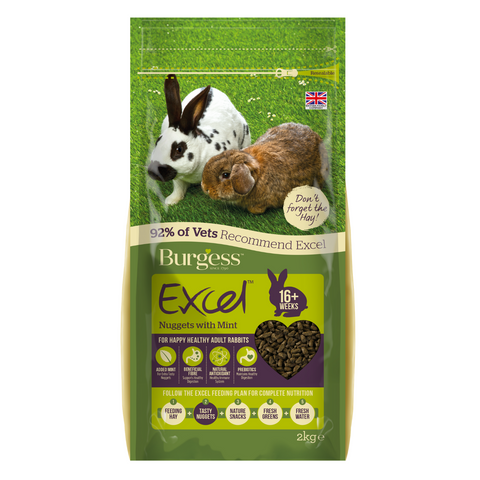 Burgess Excel Adult Rabbit Nuggets with (Mint) - 2kg