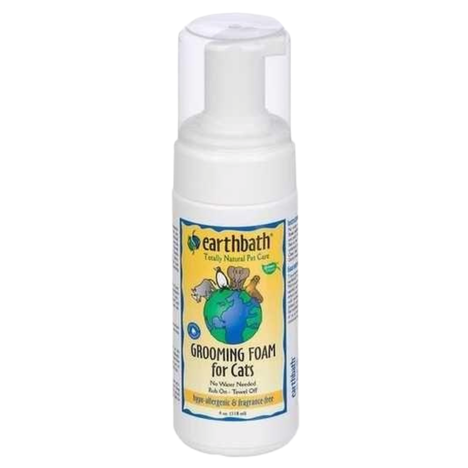 Earthbath Hypo-Allergenic Grooming Foam for Cats (Fragrance Free)