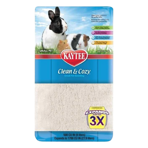 Kaytee Clean & Cozy Bedding (White) - 24.6L / 49.2L