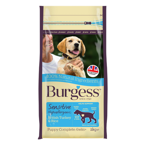 Burgess Sensitive Puppy (Turkey & Rice) - 2kg