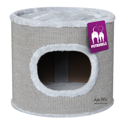 Petrebels Champions Only Dome 40 Cat House - Grey / Black