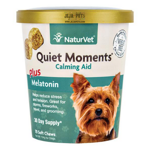 NaturVet Quiet Moments® Calming Aid Plus Melatonin Soft Chews - 70 ct (30 day supply)