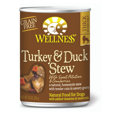 Wellness Complete Health Homestyle Stew (Grain Free Turkey & Duck Stew with Sweet Potatoes & Cranberries)